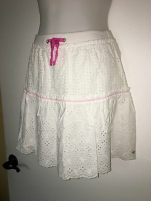 NWT Girl's Juicy Couture White Eyelet Skirt Sz 8/10