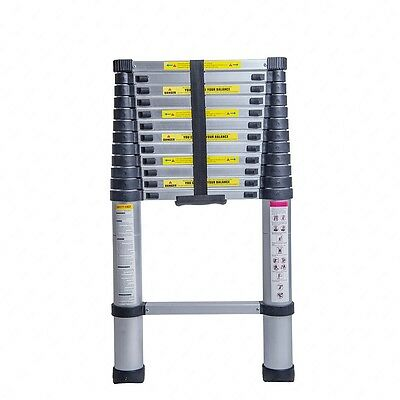 Telescopic Extension 3.8M Aluminium Ladder With Free Bag Foldable