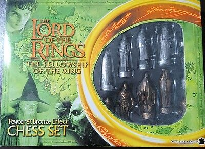 The Lord of the Rings Pewter and Bronze effect Chess Set