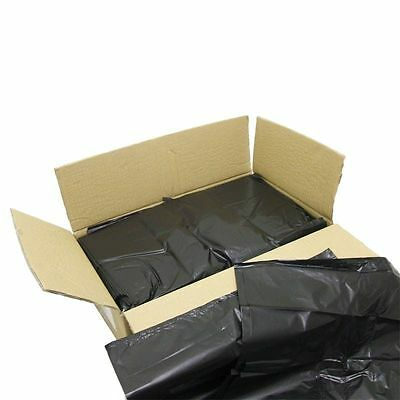 NEW Large 100 HEAVY DUTY Black Bin Bags Rolls Refuse Sacks Rubbish Liners Free P