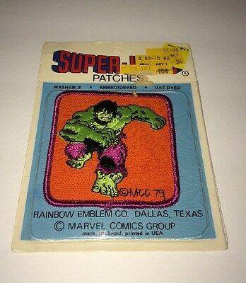 MIP Vintage 1979 Marvel Comics Incredible Hulk Patch Super-Hero Patch