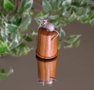 Thimble - Woodland Animals - Silver Mouse