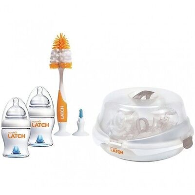 Munchkin Latch Baby Bottle Microwave Steriliser Kit - Uk - New