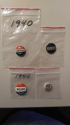 1940's USA Election Buttons