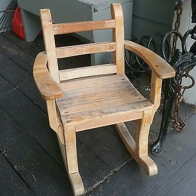 Vintage Toddler,  Child's Wooden Rocking Chair Sturdy, Adorable