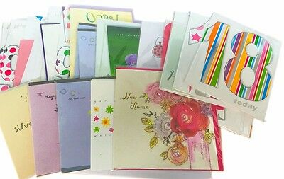 Greeting cards, job lot of 50. Mixed birthday, get well, anniversary, etc