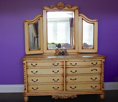 Wooden French Style Bedroom Set For Sale:
