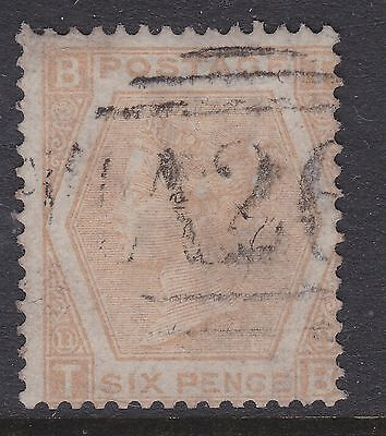 GB QV used abroad 1872 6d plate 11 buff used abroad GIBRALTAR A26 Z47 cv£150