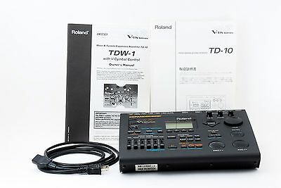 Roland TD-10 w/TDW-1 Expanded Drum Module Brain - with Manual [Excellent++]