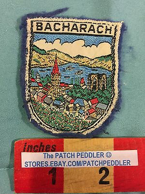 Vtg 1960s GERMANY Felt Patch BACHARACH Rhineland Palatinate Travel Souvenir 5NA4