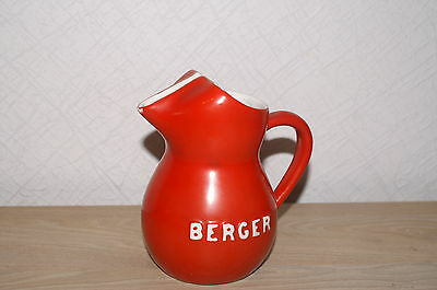 "Ancien pichet rouge ""BERGER"""