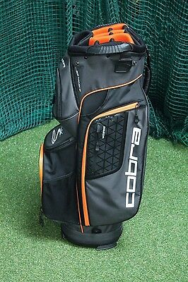 Cobra Cart Bag / Orange Black / 14-Way Divider / Cogcar002