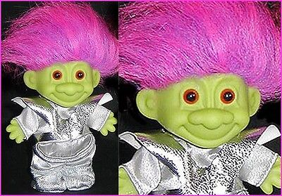 MARTIAN ALIEN TROLL Green Russ BOY Silver suit Extraterrestrial SPACEMAN NEW