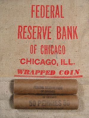 ONE UNSEARCHED - Uncirculated Lincoln Wheat Penny Roll - 1909 1958 P D S (284)