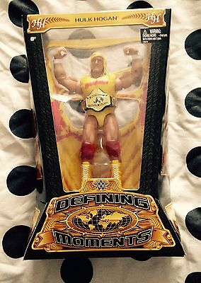 wwe wwf hulk hogan defining moments figure new very rare hulkamania