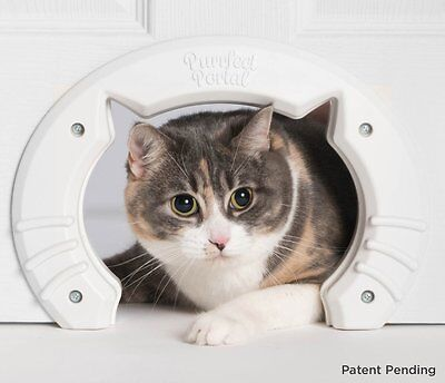 Built In Cat Door for Medium & Large Cats | Fits Interior Hollow Core or Solid W