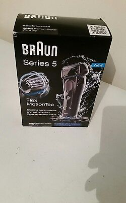 Braun Mens Series 5 5040s Wet & Dry Electric Rechargeable Shaver FlexTec Motion
