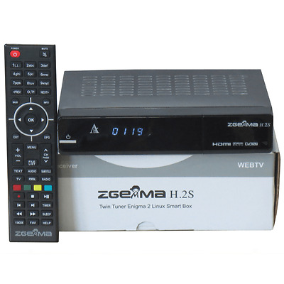 ORIGINAL ZGEMMA H.2S DUAL CORE SATELLITE RECEIVER DVB-S2 TUNER FTA Box
