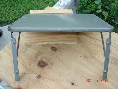 US Military Air Force or Navy Gray Collapsible Rack Mount Operators Table