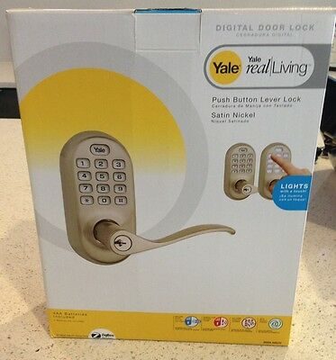 Yale Lever Push Button Door Lock- ZigBee for use with Control4 (Satin Nickel)