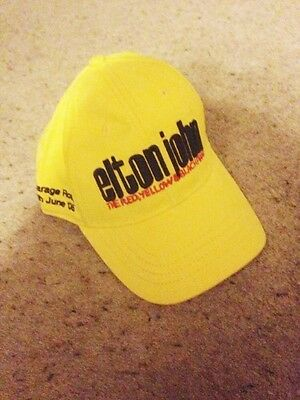 Elton john cap yellow memorabilia from 18th june 2005 RARE