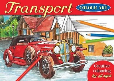 Brown Watson - A4 Colour Art Colouring Book - Over 20 TRANSPORT Designs