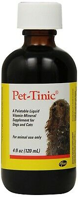Pet Tinic Vitamin Mineral Supplement for Dogs and Cats 4 Oz FREE SHIPPING