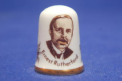 Caverswall Great Britons 'Ernest Rutherford 1871-1937' China Thimble B/64