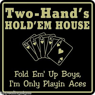 Personalized Sign Poker Game Room Bar Beer Holdem Sign #13 Custom USA Made