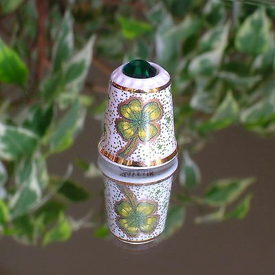 Thimble - Mayfair - Emerald Green Crystal Top - Four Leafed Clover Design