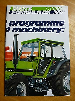DEUTZ Tractor Range Dealer Large Brochure 8 Pages 2 / 1979 - MINT! -  in English