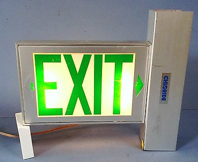 Vintage Chloride Lighted Exit Sign Commercial Industrial Home Theater Man Cave