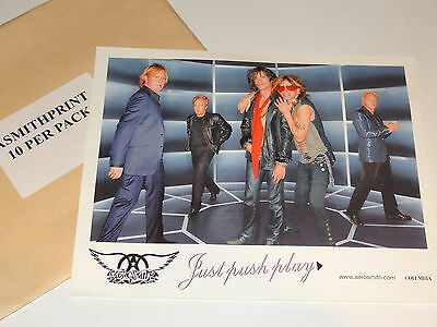 Aerosmith Pack of 10 Promotional Pictures for Just Push Play