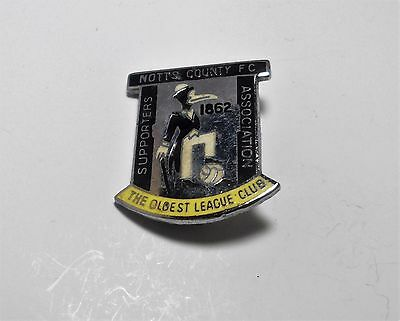 Notts County Fc -  Vintage Supporters Association Badge - Reeves.
