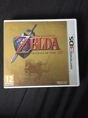 Legend Of Zelda Ocarina Of Time 3D Gold Case NO GAME