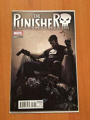 Punisher 1 Marvel 2016 Alex Maleev Signed Variant NM Unread Cloonan Netflix
