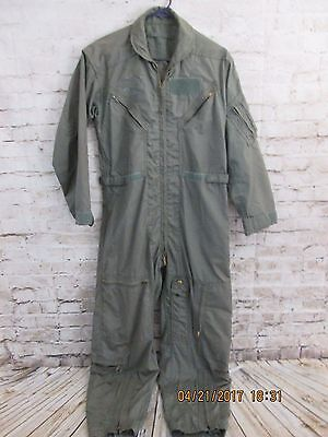 Military FLIGHT SUIT Olive Drab Green Cargo COVERALLS USAF Army Medium