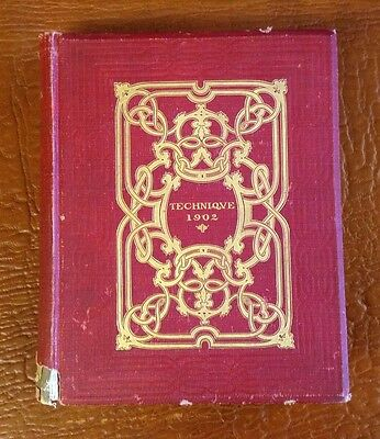 1902 MIT YEARBOOK Mass Institute of Technology, Cambridge Boston COLLEGE MA