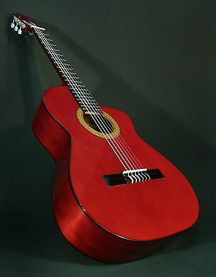 Cutaway Classical Spanish Guitar. Spruce & Etimoe In Red.  Azahar (Spain)