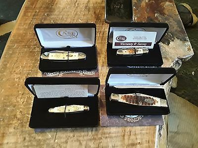 set of 4 case knives collectors series new in box