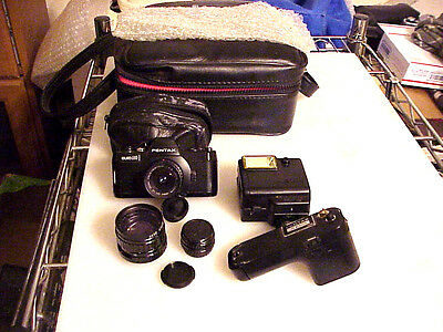 Vintage Pentax Auto 110 SLR Camera Outfil With Carry Case