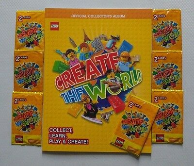 Lego Sticker Book Create The World by Sainsbury and 7 PACKS OF STICKER BRAND NEW