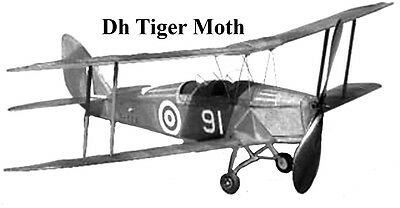 Veron Tiger Moth rubber power 18 inch wingspan  repro by brankit