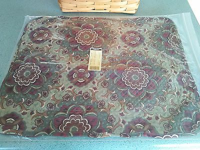 """Longaberger Autumn Roads fabric quilted Placemats set of 2 NEW 18"""" X 14"""""""