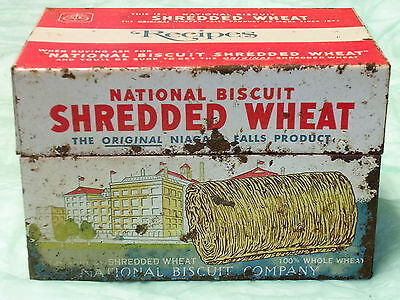 National Shredded Wheat metal reccipe box/1973/as found