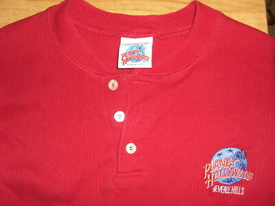 Planet Hollywood Beverly Hills henley shirt, Men's Small