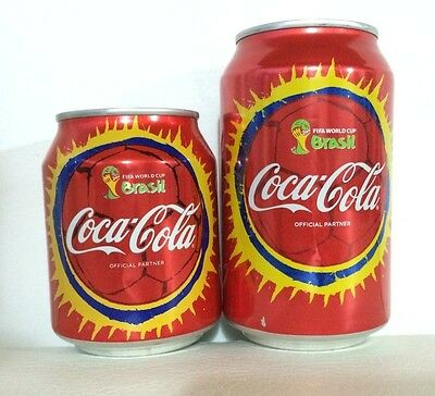 Coca-Cola Set 2 Cans, World Cup Brazil 2014, From Colombia