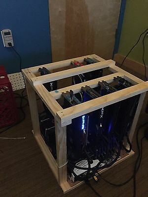 Crypto Coin Mining Rig 199 MH/s ETH Ethereum 7 x AMD GPU (Ready to Ship Fast)