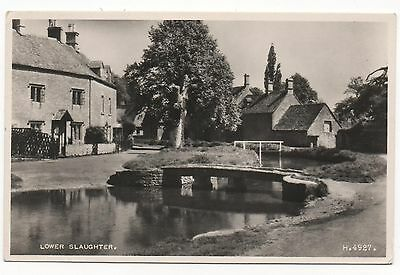 LOWER SLAUGHTER, GLOUCESTERSHIRE - Real Photo Vintage Postcard