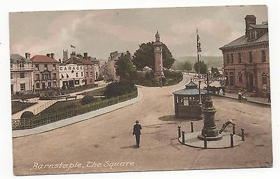 THE SQUARE, BARNSTAPLE, DEVON - Vintage Postcard
